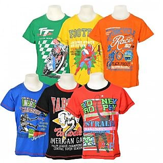 Little Star Pack of 6 T-shirts for Boys