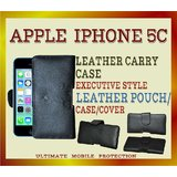 APPLE IPHONE 5C MOBILE LEATHER POUCH CASE COLOR- BLACK