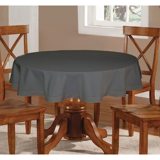 457b86f7bff Buy Lushomes Plain Sedona Sage Round Table Cloth - 6 seater Online - Get  47% Off