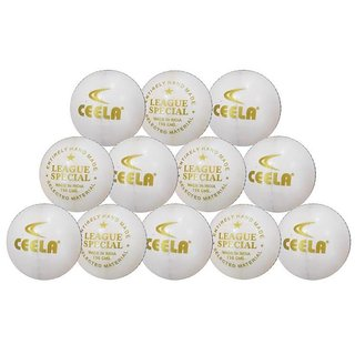 Ceela Sports League Special Cricket Ball White (set Of 12)