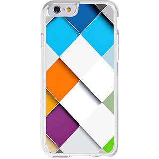 I phone 6 transperent Colorfull checks design