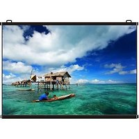 Inlight Map Type Projector Screen, 6 Ft. x 4 Ft. (IN IMPORTED HIGH GAIN FABRIC A+++++ GRADE)