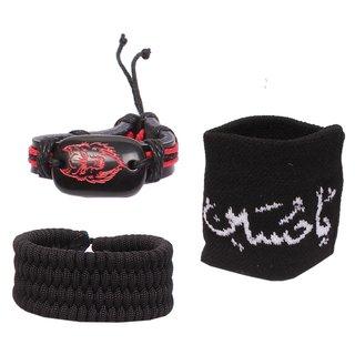 Sushito Black Wrist Bands For Men JSMFHWB0838