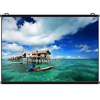 Inlight Map Type Projector Screen 10 Ft. x 8 Ft. (IN IMPORTED HIGH GAIN FABRIC A+++++ GRADE)