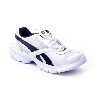 Foot 'n' Style Comfortable White & Blue Sports Shoes (fs418)