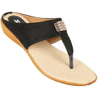 bc48a8144aca Buy VKC Skalino Black Slippers For Women Online   ₹289 from ShopClues