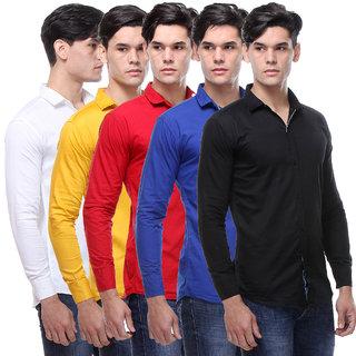 Vsi Men'S Multicolor Regular Fit Casual Shirt
