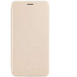 Snaptic Exclusive Golden Leather Flip Cover for Lenovo A1000