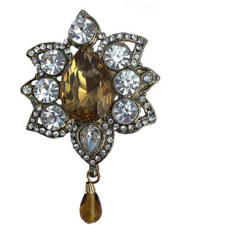 B-Fashionable Topaz Drop Brooch