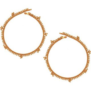 SthriElite Fancy Alloy Anklet         (Pack of 2)