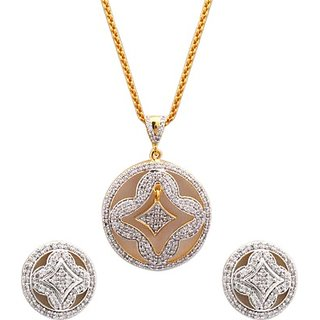 SthriElite CZ Alloy Jewel Set         (Multicolor)