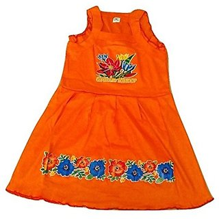Kids Frock Cotton  3-6 Years Pack Of 6 Multicolor