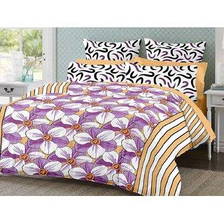 Desi Connection Cotton Mix N Match Double Bed Sheet (4183)