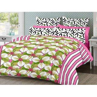 Desi Connection Cotton Mix N Match Double Bed Sheet (4186)
