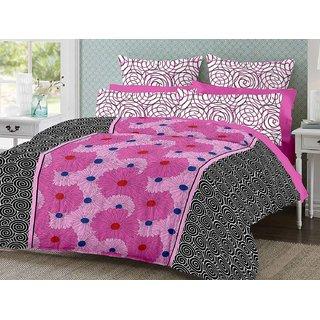 Desi Connection Cotton Mix N Match Double Bed Sheet (4188)