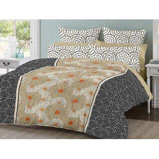 Desi Connection Cotton Mix N Match Double Bed Sheet (4190)
