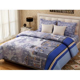 Desi Connection Cotton Mix N Match Double Bed Sheet (4193)