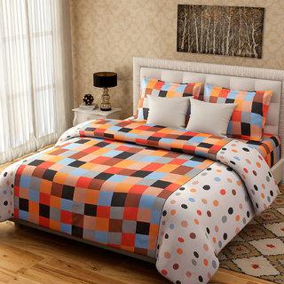 Desi Connection Checks Cotton Double Bed Sheets(4213)