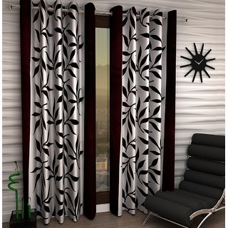 K Dcor Set of 2 Beautiful Polyester Windows Curtains (WTN2-021)