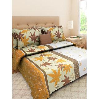 Desi Connection  Floral Cotton Double Bed Sheet(4362)
