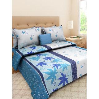 Desi Connection  Floral Cotton Double Bed Sheet(4363)