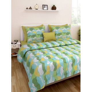 Desi Connection  Floral Cotton Double Bed Sheet(4390)