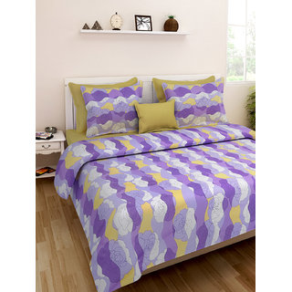 Desi Connection  Floral Cotton Double Bed Sheet(4391)