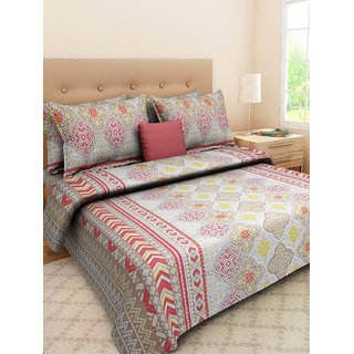 Desi Connection  Printed Cotton Double Bed Sheet(4400)