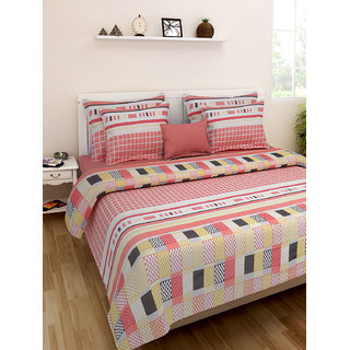 Desi Connection  Printed Cotton Double Bed Sheet(4404)