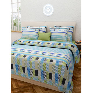 Desi Connection  Printed Cotton Double Bed Sheet(4405)