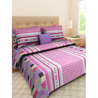 Desi Connection  Printed Cotton Double Bed Sheet(4406)