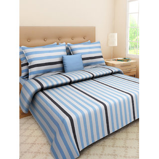 Desi Connection  Printed Satin Cotton Double Bed Sheet(4411)