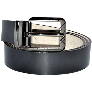 6b4224d10 Buy GE Black Leather Belt for Men Online   ₹470 from ShopClues