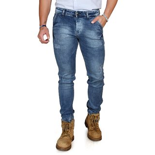 Nsum Narrow Fit Cloud Wash Jeans