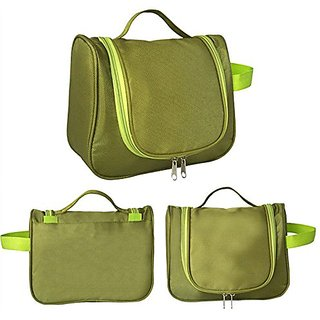 Urban Living Candy Color Multi Function Women Cosmetic Makeup Bag Travel Storage Bag - Green