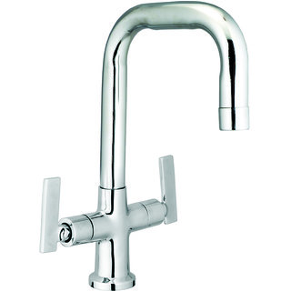 Kamal Step Centre Brass Hole Basin Mixer