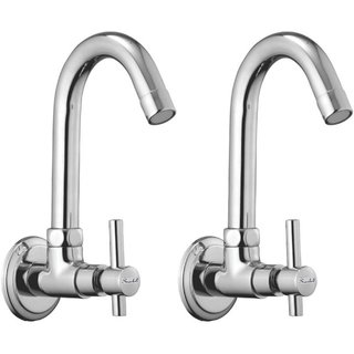Snowbell Sink Cock Tarim Brass Chrome Plated - Set of 2
