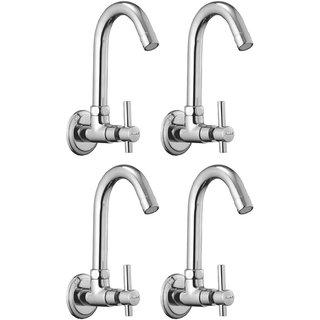 Snowbell Sink Cock Tarim Brass Chrome Plated - Set of 4
