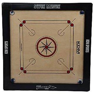 KDM Super Master Wood Carrom Board Frame Size 3 X 1.5