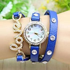 Women Love Wadding Blue Beauty Girls Watches