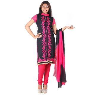 RangoliSF Cotton Printed Pink Unstitched Salwar Suit Dress Material (RSFG1413)