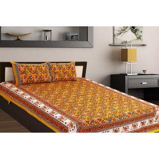 Chokor Jaipuri Cotton Double Bedsheet (R2S114)