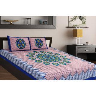Chokor Jaipuri Cotton Double Bedsheet (R2S130)