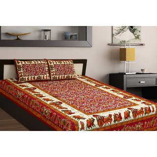 Chokor Jaipuri Cotton Double Bedsheet (R2S104)