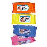 Baby Wipes 80 Pcs Each (Pack Of 3)