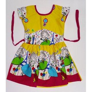 Kids dresses baby clothing Girls Cotton Frock Castle  Princess print