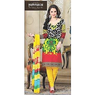 Multicolour Digital Printed Cotton Suit Dress Material