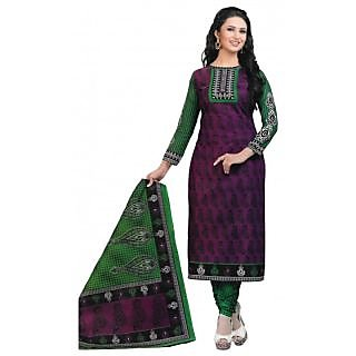 Multicolour Digital Printed Cotton Suit Dress Material