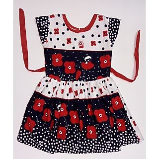 Kids dresses baby clothing Girls Flower print cotton frock
