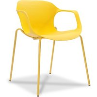 Durian ZANE Synthetic Fiber Living Room Chair(Finish Color - Yellow)